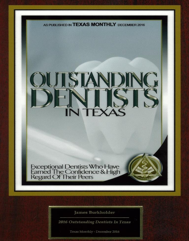 Texas Monthly Outstanding Dentist Dr. Burkholder